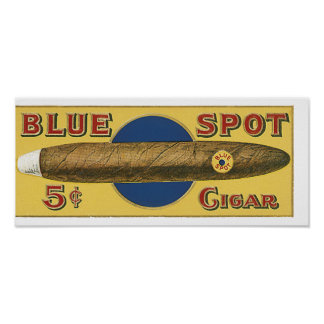 Blue Spot Cigar Poster