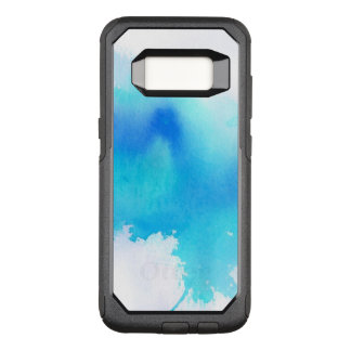 Blue spot, watercolor abstract hand painted OtterBox commuter samsung galaxy s8 case