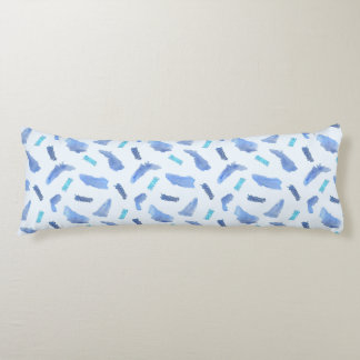 Blue Spots Brushed Polyester Body Pillow