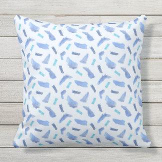 Blue Spots Outdoor Throw Pillow 20'' x 20''