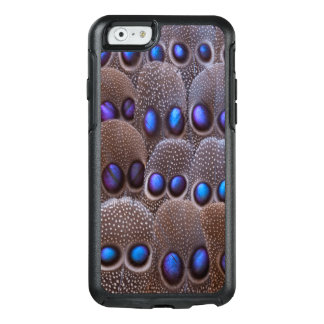 Blue spotted pheasant feather OtterBox iPhone 6/6s case