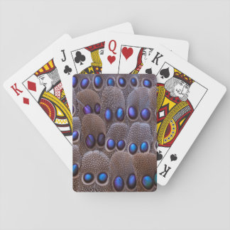 Blue spotted pheasant feather playing cards