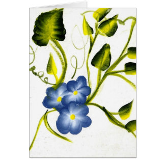 BLUE SPRING BLOSSOMS GREETING CARD