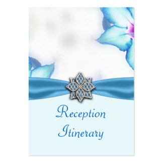 Blue Spring Flowers Watercolor Wedding Business Card
