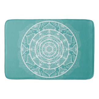 Blue Spruce Mandala Bath Mat