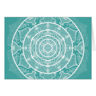 Blue Spruce Mandala Card