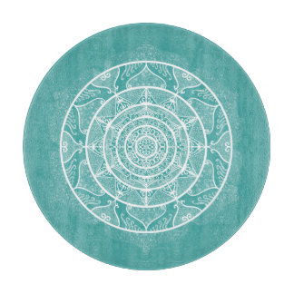Blue Spruce Mandala Cutting Board