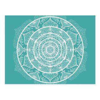 Blue Spruce Mandala Postcard