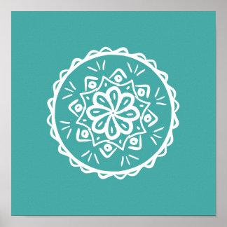 Blue Spruce Mandala Poster