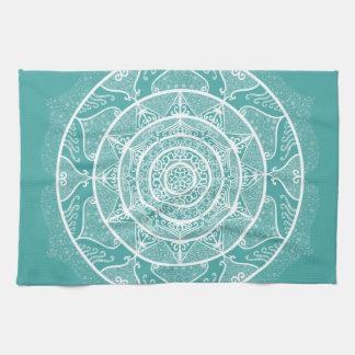Blue Spruce Mandala Tea Towel