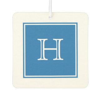 Blue Square Monogram Air Freshener