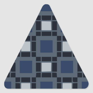 Blue Square Pattern Triangle Sticker