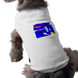Blue Square Sleeveless Dog Shirt