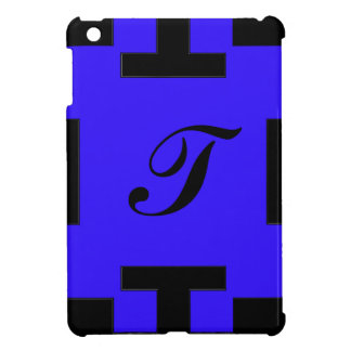 Blue  squares and squares case for the iPad mini