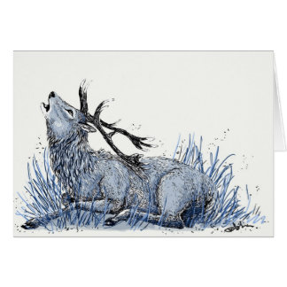 Blue Stag Card