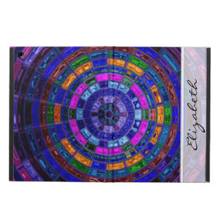 Blue Stained Glass Mosaic Pattern iPad Air Covers