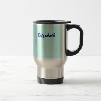 Blue Stainless Steel Mug for Elizabeth