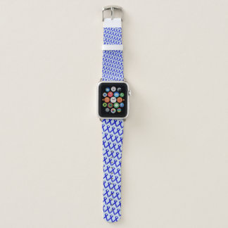 Blue Standard Ribbon by Kenneth Yoncich Apple Watch Band