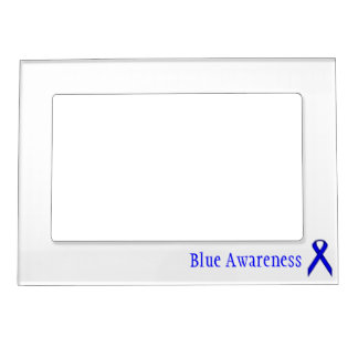 Blue Standard Ribbon by Kenneth Yoncich Frame Magnets