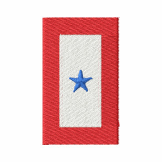Blue Star Banner( Serving Active Duty) Embroidered Shirt