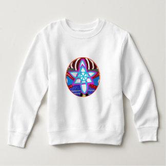 BLUE STAR Cosmic Healing  Reiki Karuna Symbol Sweatshirt