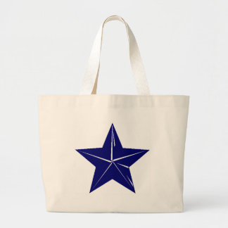 Blue Star design for any purpose!! Large Tote Bag