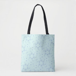 Blue star design tote bag