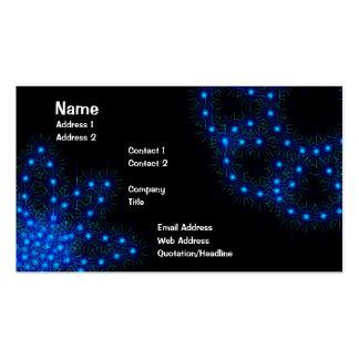 Blue Star Flower Business Card