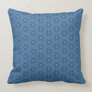 Blue Star Flower Cushion