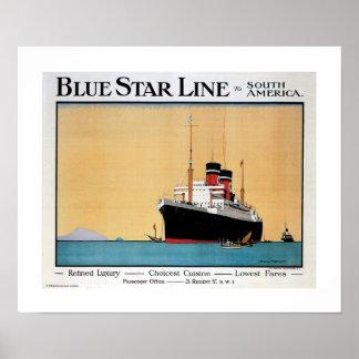 Blue Star Line Poster
