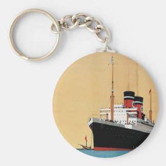 Blue Star Liner Basic Round Button Key Ring