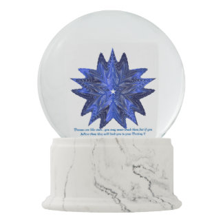 Blue Star!! Make Wishes Comes True !! Snow Globes