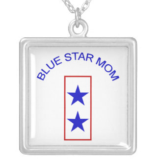Blue Star Mom 2 Silver Plated Necklace