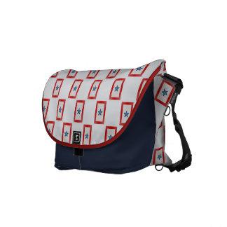 Blue Star Mom Patriotic Military Messenger Bag