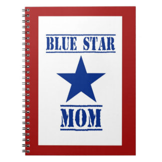 Blue Star Mom Patriotic Military Notebook
