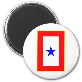 Blue Star Mother 6 Cm Round Magnet