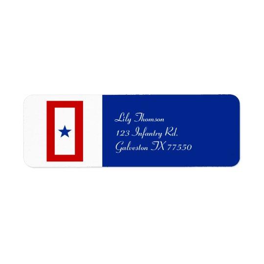 Blue Star Mum Military Return Address Label