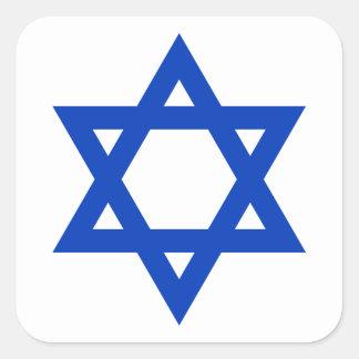 Blue Star of David Square Sticker