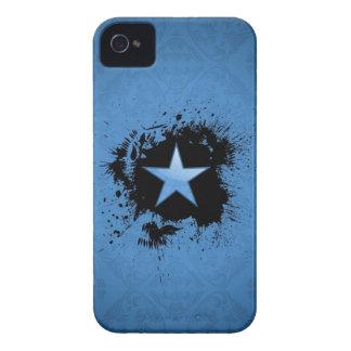 blue star on ink BlackBerry case