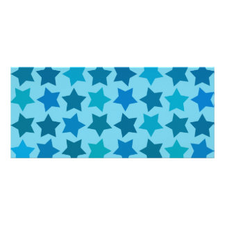 Blue Star Pattern Rack Cards