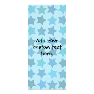 Blue Star Pattern Personalized Rack Card