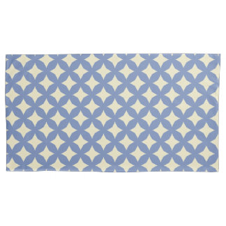 Blue Star Round Motif accent Pillowcase
