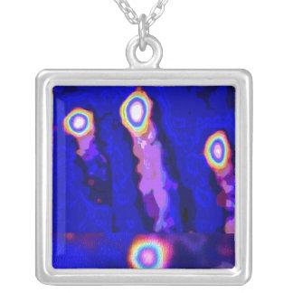 BLUE STAR Sparkles : BEST Friend Ever Square Pendant Necklace