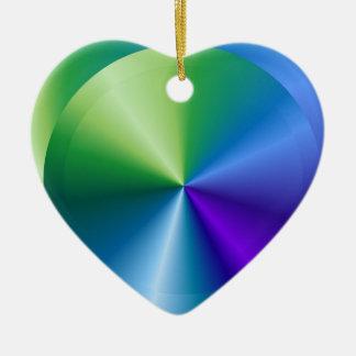 BLUE STAR: Sparkling Heart Ceramic Heart Decoration