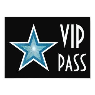 Blue Star 'VIP PASS' invitation black horizontal