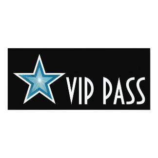 Blue Star 'VIP PASS' invitation black long