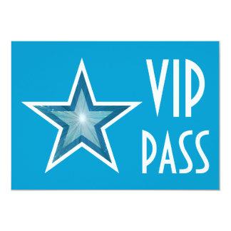 Blue Star 'VIP PASS' invitation blue horizontal