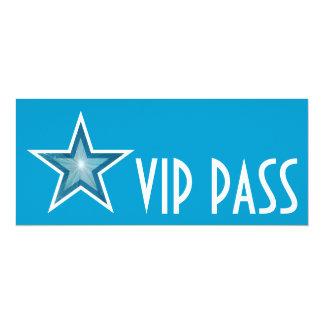 Blue Star 'VIP PASS' invitation blue long