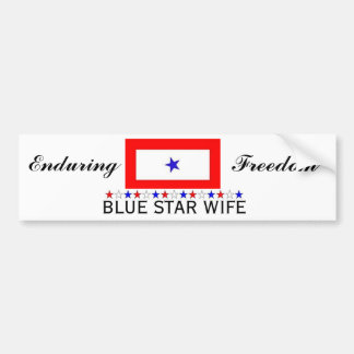 Blue Star Wife Bumper Sticker