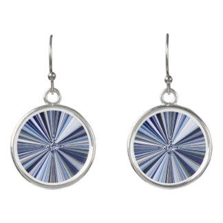 Blue Starburst Drop Earrings
